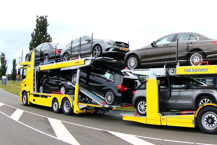 transport van auto's